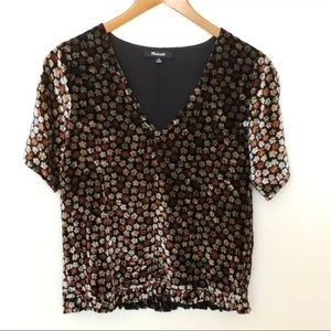 Madewell NWT floral top Small